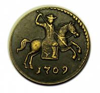 Копейка 1709 года медь №180 копия, фото 1