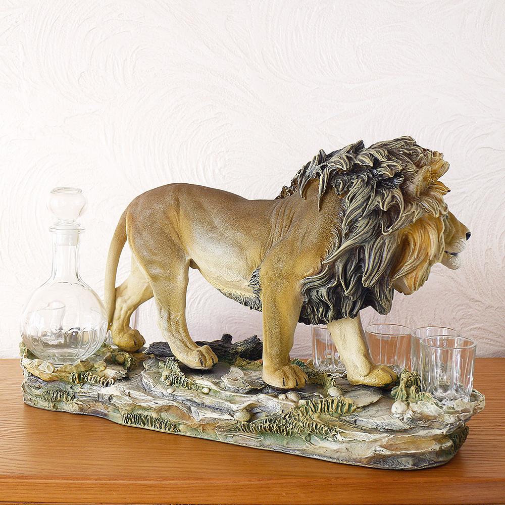 Штоф лев подарочный набор для водки