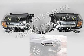 Передні фари Executive Black Toyota Land Cruiser 200 2016+