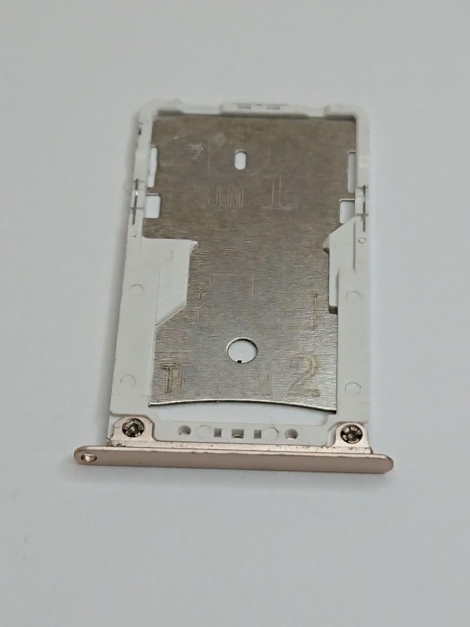 Лоток Sim-карт Xiaomi Redmi Note 4X золотистый оригинал б.у.