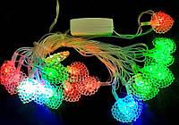 """Світлодіодна LED гірлянда """"Листочки"""" 20 лампочок, 3 м, колір мульти., фото 1"""
