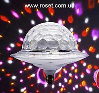 Диско куля з динаміком в патрон LED UFO Bluetooth Crystal Magic Ball E27, фото 1