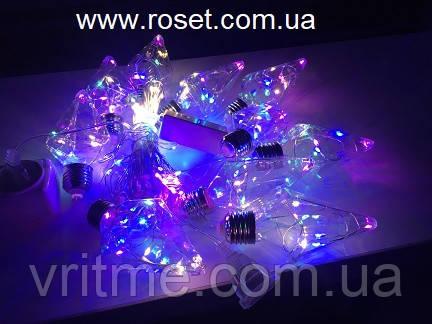 Светодиодная гирлянда штора  Лампочки Ромб 150 Led, 3 * 0,85 м,10 ламп, мультицветная