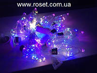 Светодиодная гирлянда штора  Лампочки Ромб 150 Led, 3 * 0,85 м,10 ламп, мультицветная, фото 1