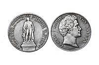 Талер 1843 Бавария Мюнхен Людвиг I KING копия монеты №218 копия, фото 1