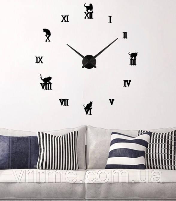 Декоративные настенные 3D часы Diy Clock