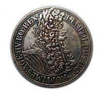 Редкий серебряный талер 1695 года Леопольд Австрия копия №219 копия