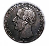 2 талера 1855 года, двойной талер, Ганновер №222 копия