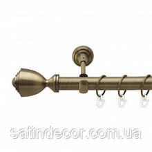 Карниз для штор металлический ПАЛАЦИО однорядный 25мм 2.0м Античное золото