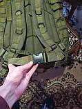 Городской тактический штурмовой военный рюкзак на 40 литров чёрный, зеленый песочный, фото 5