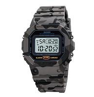 Часы наручные электронные Skmei 1628 Gray camo, фото 1
