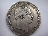 2 талера 1842 ПРУССИЯ , Фридрих Вильгельм IV №228 копия