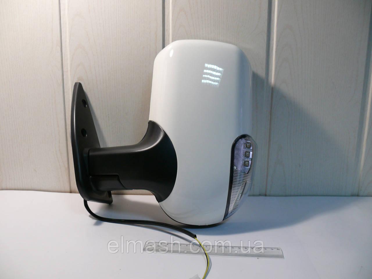 Зеркало боковое ГАЗ 3302 нового образца с поворотом левое белое