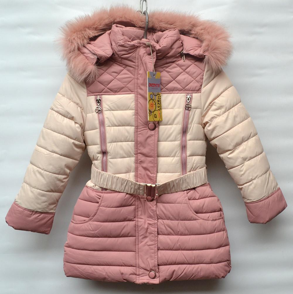 Зимове пальто для дівчат на 6-10 років OHCCMITH блідо-рожеве - Камала в 7811062aed764