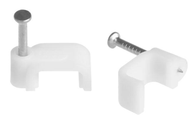 Скоба (клипса) кабельная плоская  D-16 mm