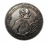 Редкая монета 1723 года Саксен-Заальфельд серебро копия №230 копия