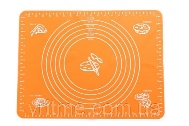 Силіконовий килимок для розкочування тіста MAT ORANGE 38* 28 см килимок для тіста