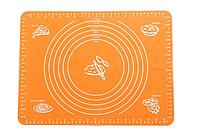 Силіконовий килимок для розкочування тіста MAT ORANGE 38* 28 см килимок для тіста, фото 1