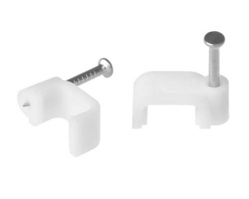Скоба (клипса) кабельная плоская   D-7 mm