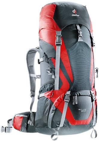 Треккинговый рюкзак Deuter ACT Lite 65+10 granite/fire (4340115 4560)