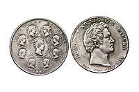 1 талер 1828 года Благословение Королевской Семьи Людвиг I Бавария №232 копия, фото 1