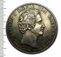 Талер 1829 подписание торгового договора копия монеты в серебре №236 копия