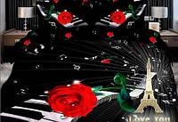"""Постельное белье """"Love You"""" Мелодия сатин 3D  200х220"""