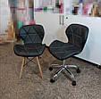 """Крісло для майстра манікюру """"Нью Стар"""" м'яке, чорне ,біле , сіре ., фото 5"""