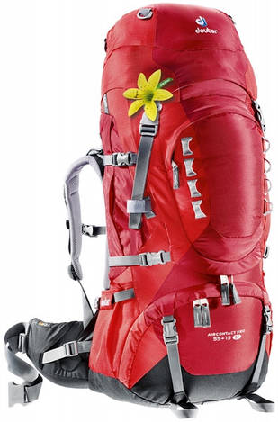 Треккинговый рюкзак для женщин Deuter Aircontact PRO 55+15 SL cranberry/fire (33813 5560)