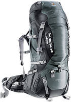 Треккинговый рюкзак Deuter Aircontact PRO 60+15 granite/black (33823 4700)