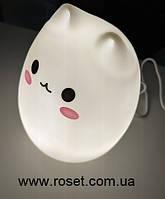 Ночной светильник LED силиконовый Котик, фото 1