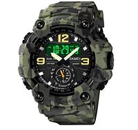 Часы наручные электронные Skmei 1637 Green camo