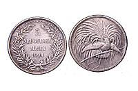 5 марок 1894 год Папуа Новая Гвинея №244 копия, фото 1