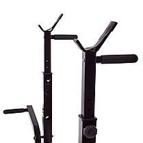 Скамья тренировочная Fit-On FN-S102 + штанга и гантели 140кг, фото 2