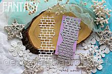 """Нож для вырубки Fantasy """" Кирпичная стена """" размер 14.5*5 см"""