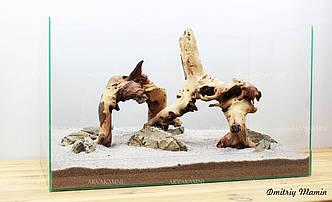 Композиция из Карпатского камня и Мопани K35
