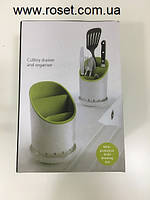 Подставка для кухонных приборов, принадлежностей Cutlery Drainer and Organizer, фото 1
