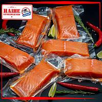 Куски лосося (сёмги) слабосолёные 200-300г