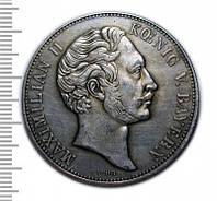 Двойной конституционный талер 1848 Максимилиан II копия монеты №252 копия