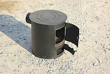 Буржуйка опалювально-варильна піч для швидкого обігріву та приготування їжі зі сталі
