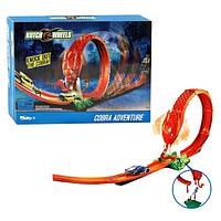 Детский гоночный автотрек Adventure Snake Nest. Яркий подарок. Автомобильный трек инерционный с машинками.