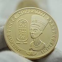 Позолоченная сувенирная монета ''Нефертити'', фото 1
