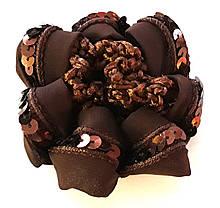 Сеточка на гульку/пучок Fashion с пайетками коричневая