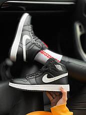 "Женские кроссовки Air Jordan 1 Retro High OG ""Yin Yang"" Black/White 575441-011, фото 2"