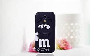 Объемный 3D силиконовый чехол для Samsung Galaxy s4 mini i9190 M&M's черный
