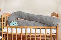 Подушка для беременных 3 в 1 U, PREMIUM 150 см, ТМ Добрый сон, серая, 13-05/33