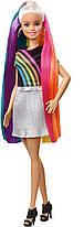 Кукла Барби радужные сверкающие волосы Barbie Rainbow Sparkle Hair FXN96