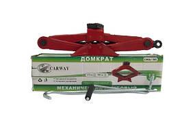 Домкрат механический 1,5 т (ромб 110-360 мм) с резинкой CARWAY