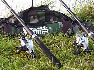 Спиннинги Armor 2.4м 2шт с катушками Cobra CB640 в cборе Универсальный рыболовный набор + Чехол ПОДАРОК