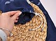 Муслиновая накидка для годування з сумочкою-чохлом, синя, фото 8